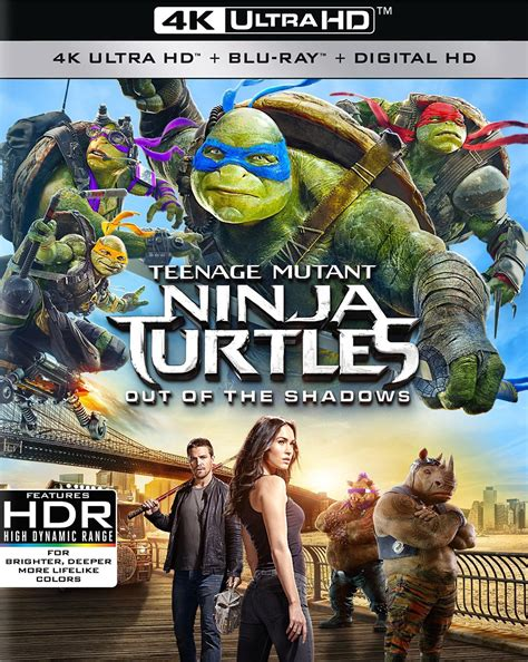 film blu ray 3d 4k teenage mutant ninja turtles out of the shadows 4k blu ray