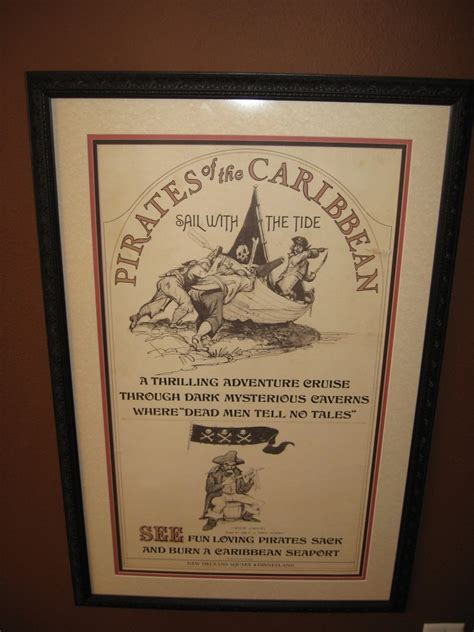 Photo Frame Disney If The Caribbean disney 1967 disneyland of the caribbean ride