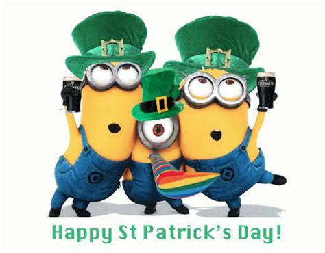 happy birthday on st s day clip happy st patricks day minions pictures photos and images for and