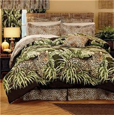 tropical jungle cat themed leopard comforter shams