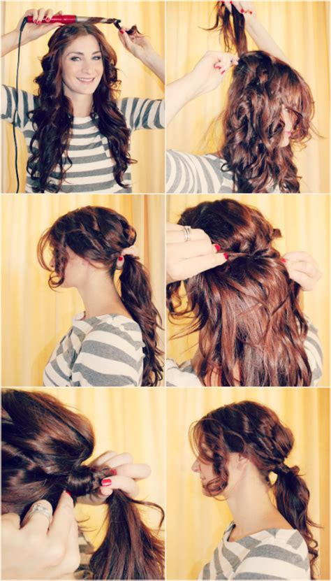 hairstyles ideas step by step super easy step by step hairstyle ideas fashionsy com