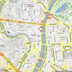 Lyon France Map by Map Of Lyon France Hotels Accommodation