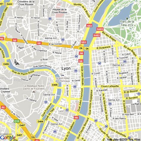lyon on a map map of lyon hotels accommodation