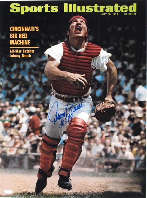 johnny bench big hands lot detail johnny bench 1947 16x20 photo signed from