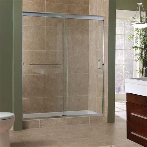 Marina Collection 3 8 Frameless Sliding Shower Doors Shower Enclosures Sliding Doors