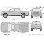The Blueprintscom  Vector Drawing Toyota Tacoma Double Cab
