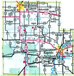 wood county map wood county map
