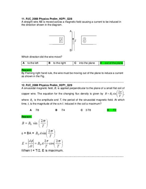 electromagnetic induction mcq electromagnetic induction mcq 28 images j2 physics 2008 prelim electromagnetic induction