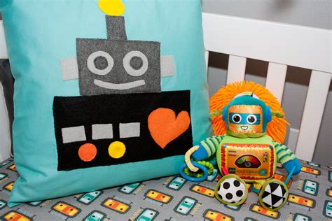 Robot Nursery Project Nursery Robot Crib Bedding