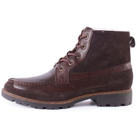 hilfiger boots hilfiger houston 9cw mens boots in coffee