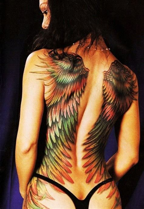 tattoos of angel wings on your back female nude tattoo full back wing tattoos from