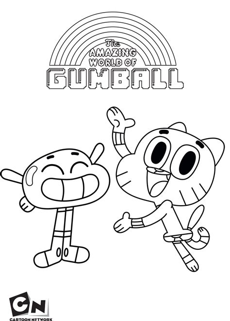 cartoon network coloring pages games gumball and anais the amazing world of gumball coloring