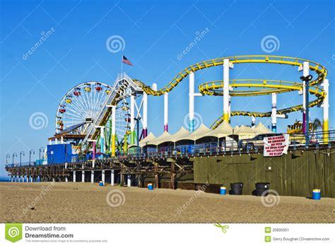theme parks in california amusement park on santa monica california pier editorial