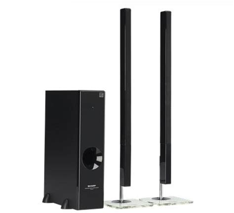 Home Theater Sharp Ht Cn312dvw sharp 2 1ch slim sound bar home theater system ht