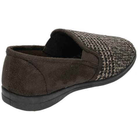 house slipper dr keller mens faux suede textile cosy slippers house shoes dr keller from jenny