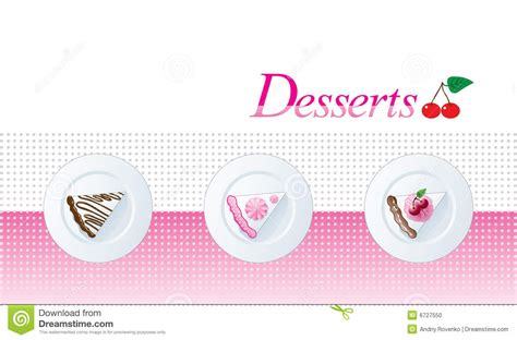 dessert menu template stock photo image 6727550