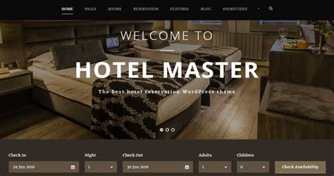 theme hotel master top 10 hotel resort themes for wordpress website 2018