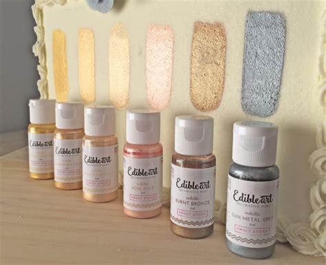 buttercream paint product review metallic edible art paints by sweet sticks