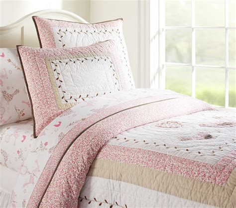 pottery barn comforters and quilts bethany quilted bedding pottery barn kids