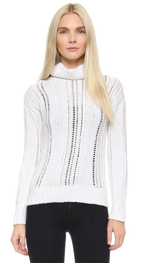 white turtleneck sweater lyst maiyet turtleneck sweater in white
