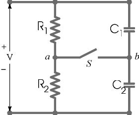two resistors and two uncharged capacitors are arranged part 1 two resistors r1 7 60 ohm and r2 3 80 chegg