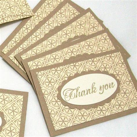 Envelopes For Handmade Cards - mini thank you cards with handmade envelopes kraft