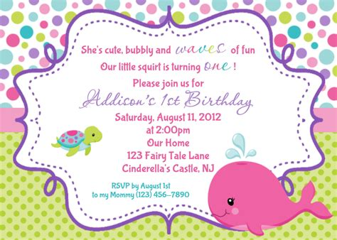 whale birthday invitation personalized by afairytalebeginning