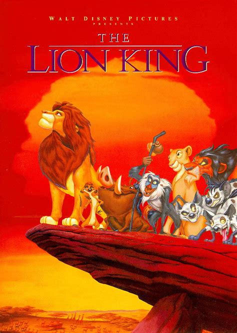 film lion king the original theatrical poster