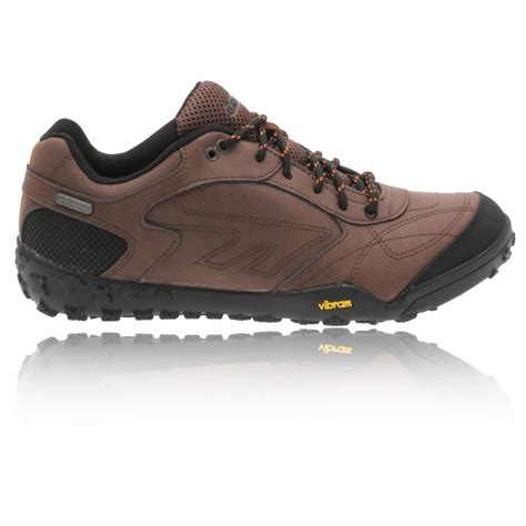 hi tec mens bartholo brown waterproof trail hiking walking