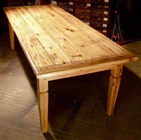 barnwood dining room tables heirloom workshops reclaimed wood table tapered leg