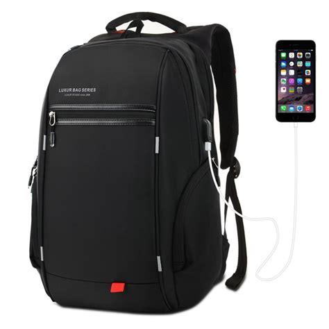 luxur laptop backpack 37l with usb charging port waterproof