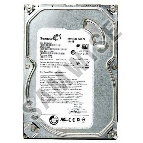 Hardisk Seagate 250gb Sata Second by Disk 250gb Seagate St3250318as Sata2 7200rpm