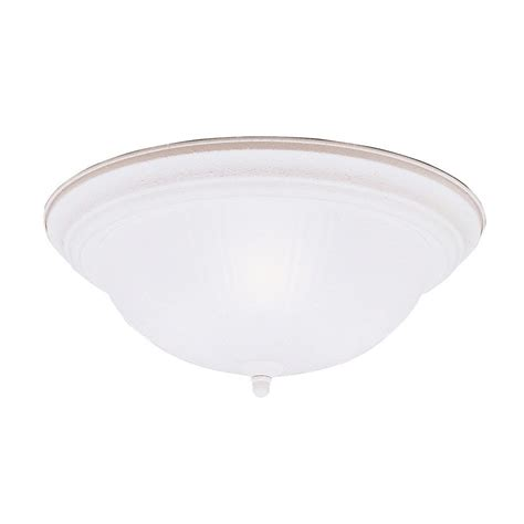 White Flush Ceiling Light Shop Kichler Lighting 15 25 In W Stucco White Ceiling Flush Mount Light At Lowes