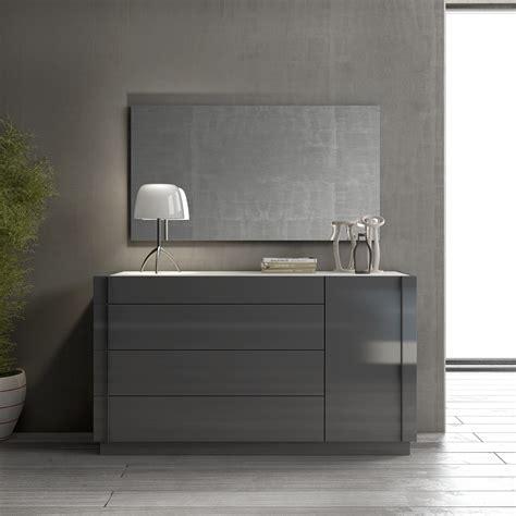 modern natural wood dresser braga grey lacquer natural wood nightstand dresser j m