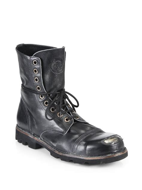 diesel boot lyst diesel hardkor steel lace up boots in black for