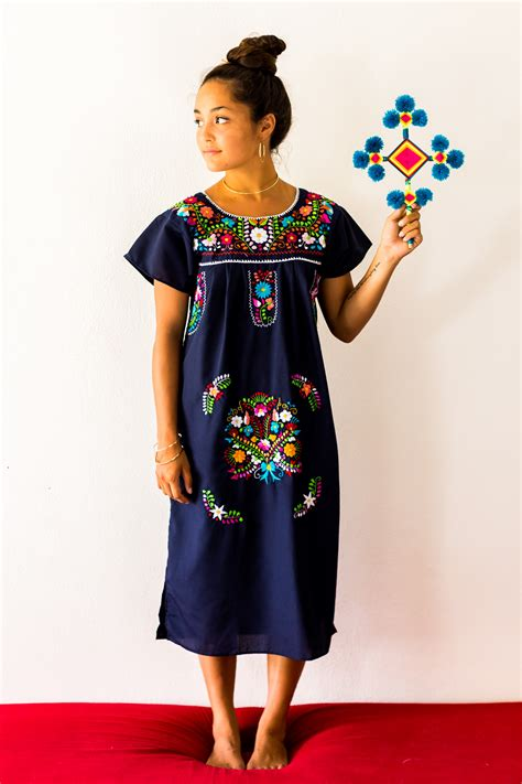 Mexican Wardrobe by Mexican Embroidered Dress Designed By Erica Maree
