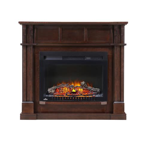 Napoleon The Bailey 24 In Corner Mantel Package Electric Corner Electric Fireplaces Home Depot