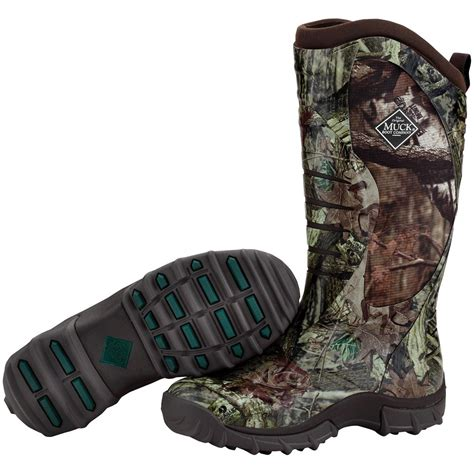 mens camo muck boots s muck boots 12 quot pursuit stealth waterproof camo