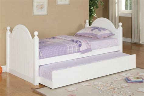 kid bed frames poundex furniture twin bed with trundle f9057