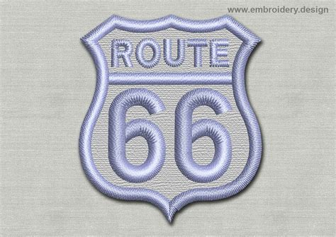embroidery design route 66 patch route 66