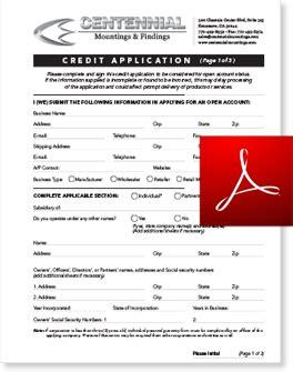 Credit Form 8932 centennial co contact us