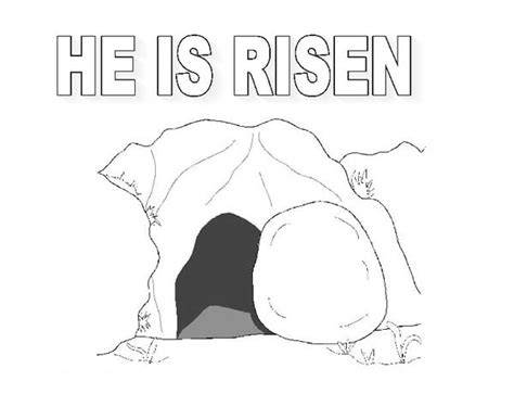 coloring page jesus empty tomb the tomb where jesus rise in jesus resurrection coloring