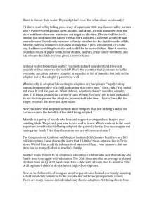 Exles Of Speech Essay by Informative Speech Adoption