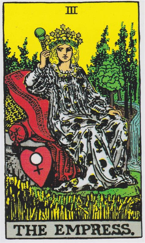The Will Of The Empress the empress albano waite tarot tarot the empress