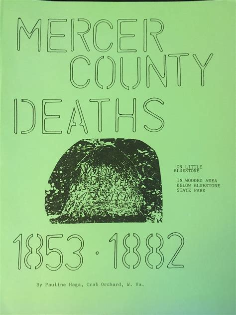 Mercer County Records Mercer County Deaths 1853 1882 Tazewell County Historical Society