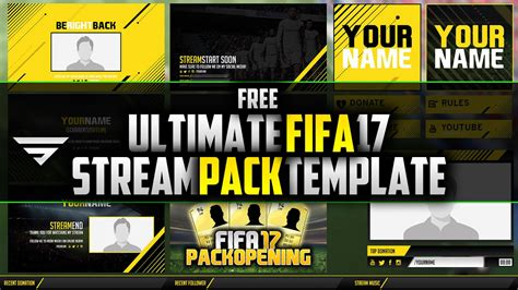 layout maker template pack free fifa17 stream pack template photoshop cc