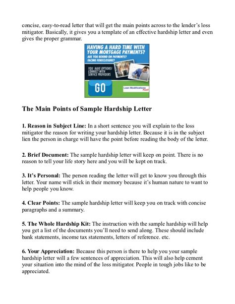 Government Hardship Letter Sle Hardship Letter Sle For Mortgage Reduction