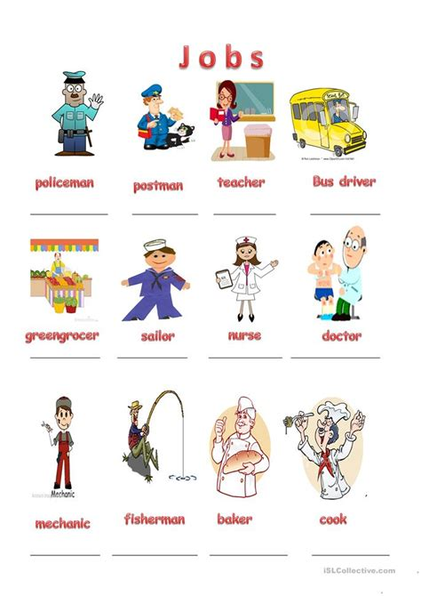 free printable english worksheets occupations jobs worksheet free esl printable worksheets made by