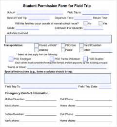 Field Trip Permission Slip Template by Permission Slip Template 15 Free Documents In