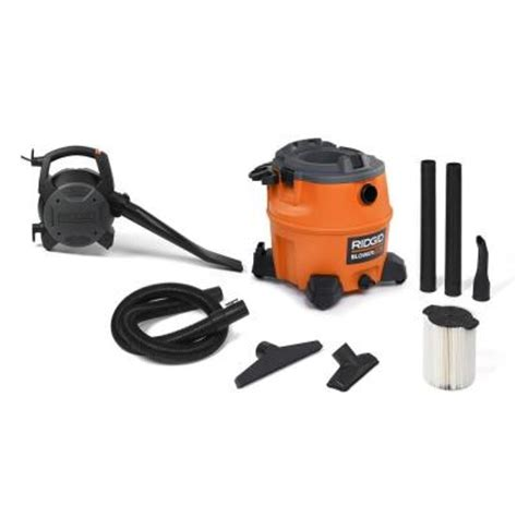ridgid 16 gal vacuum with detachable blower